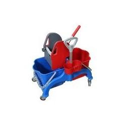 Chariot Faubert 2x22L + Presse verticale + support pulverizateur