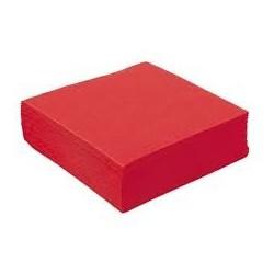 Serviette papier couleur rouge 2 plis 40*40